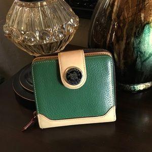 DOONEY & BOURKE green and tan wallet